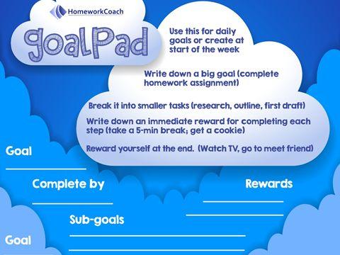 Download the Free HomeworkCoach GoalPad Homework Planner